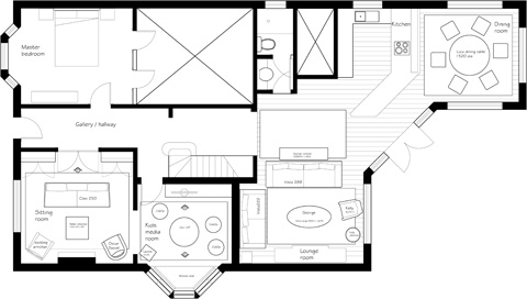Interior Design –  Floorplan – Groth and Sons