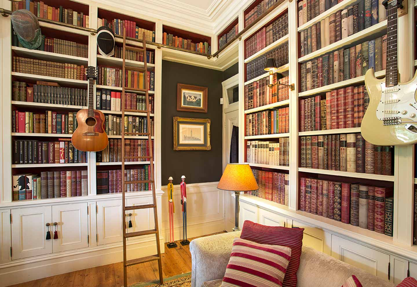 bespoke home library design groth sons interiors sydney. Black Bedroom Furniture Sets. Home Design Ideas